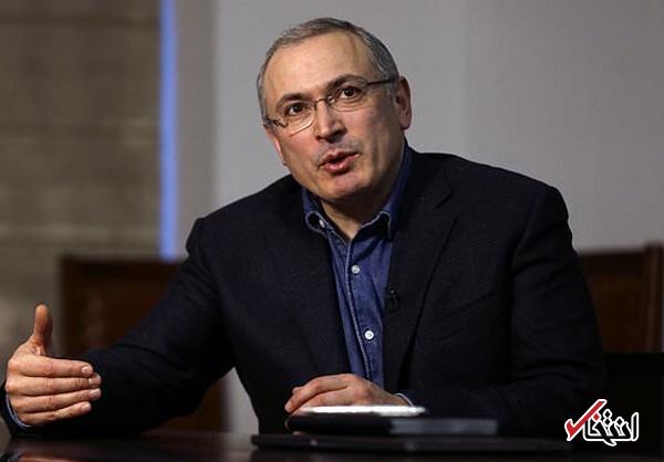 خودورکوفسکی، میلیاردر روسی: مشکل روسیه با کنار رفتن پوتین حل نمی شود