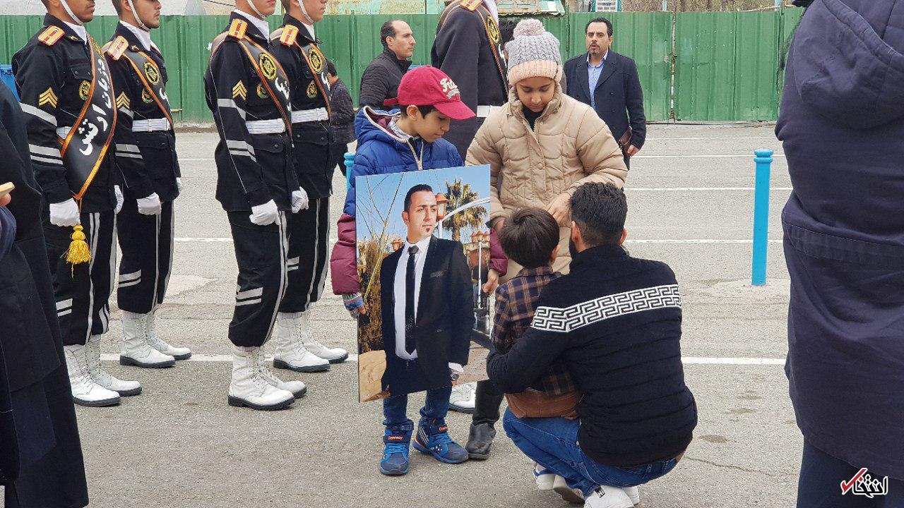 پیکر سه شهید سانچی تشییع شد +تصاویر