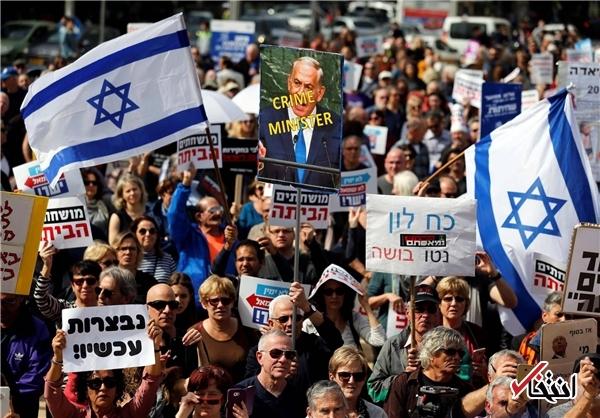 تظاهرات علیه فساد مالی نتانیاهو در تل آویو +عکس