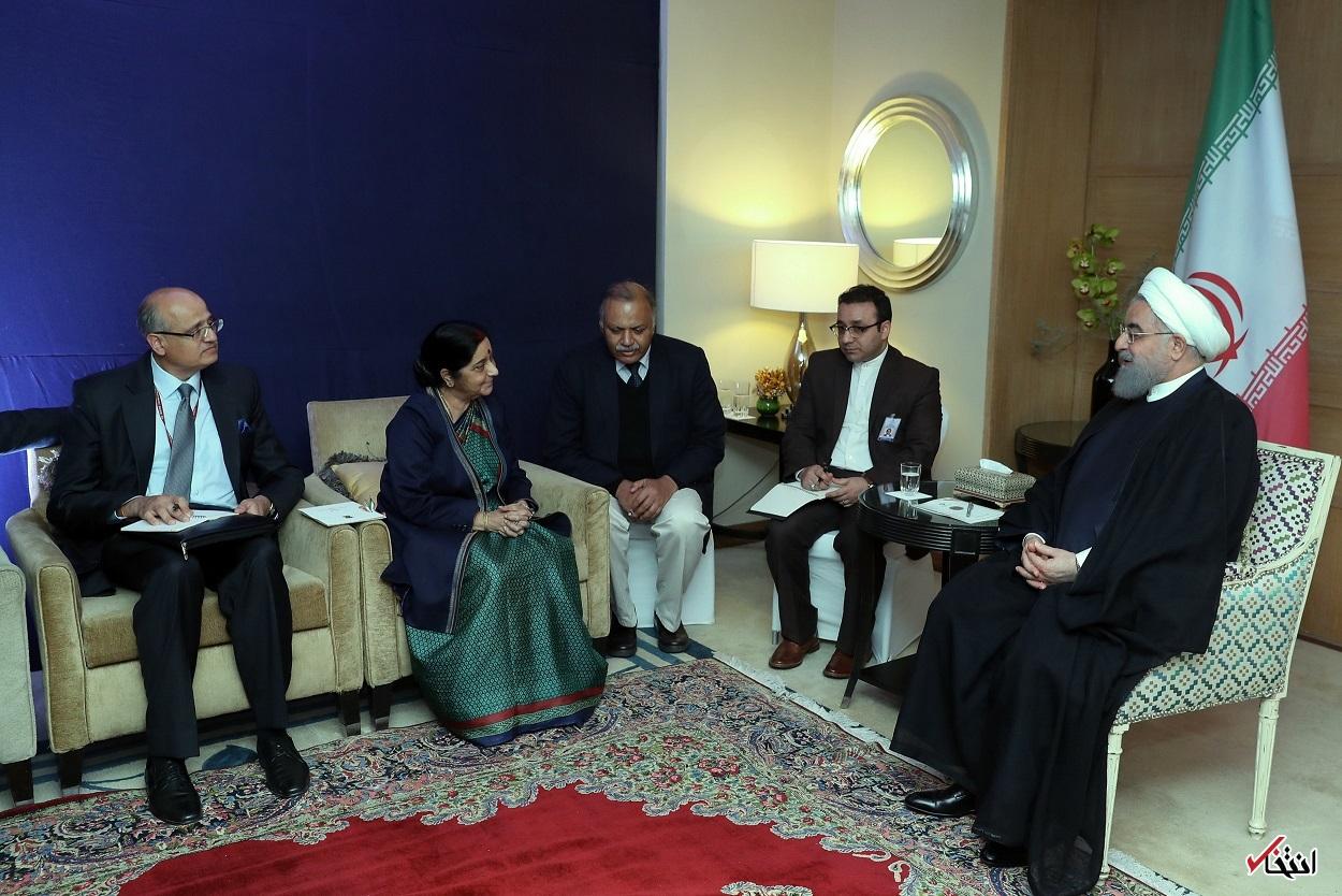 روحانی: تهران از حضور فعالتر شرکتهای هندی در بازارهای ایران استقبال می کند