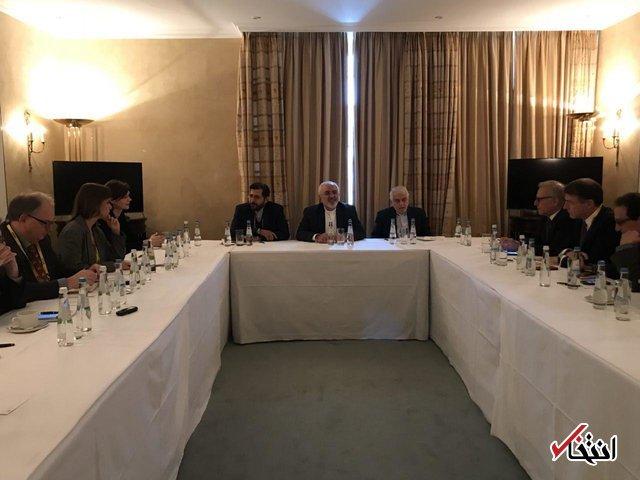 دیدار ظریف با تعدادی از اعضای پژوهشکده ها و موسسات مطالعاتی آلمان
