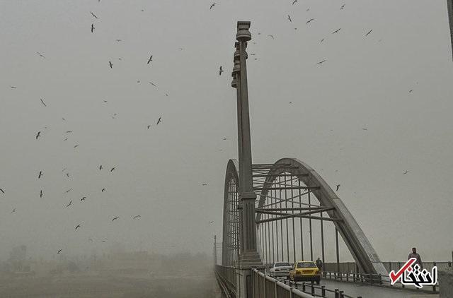 گرد و غبار «کویتی» هم به خوزستان رسید / خاک و باران در اهواز