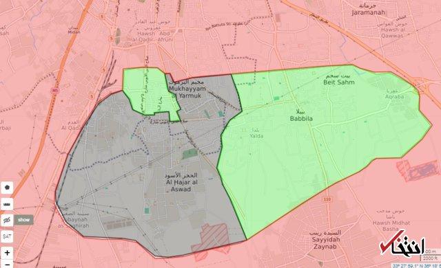 داعش 75 درصد اردوگاه الیرموک در جنوب دمشق را تصرف کرد