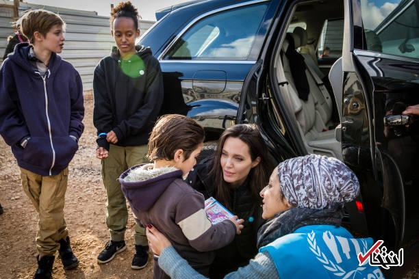 تصاویر : حضور آنجلینا جولی در میان آوارگان سوری