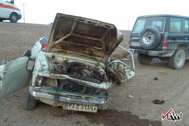 تصادف موتور سنگین در شیراز تصادف خونین 11 خودرو در شیراز