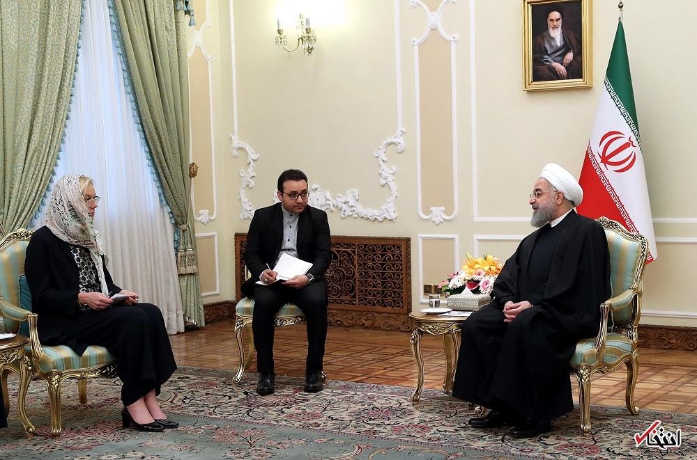 روحانی در دیدار وزیر خارجه هلند: علاقه مندیم درباره فروش تسلیحات مخرب به کشورهای منطقه گفت وگو کنیم