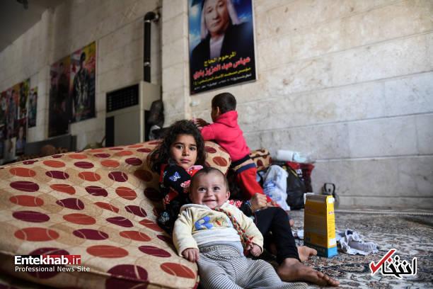 تصاویر : کُردهای عفرین به شهر شیعه نشین نبل پناه آوردند