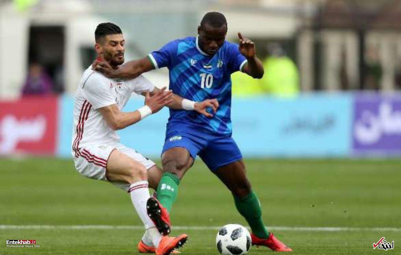 پیروزی آسان ایران در دیداری تدارکاتی ایران ۴ – سیرالئون صفر