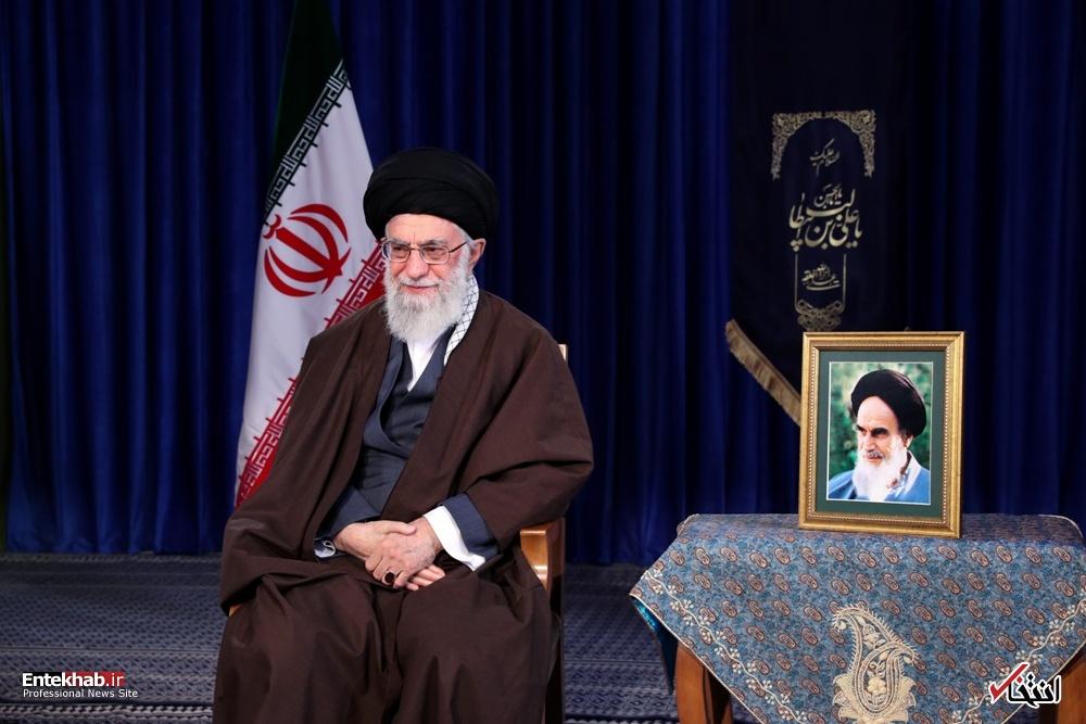 عکس/ پیام نوروزی رهبر انقلاب به مناسبت آغاز سال ۱۳۹۷