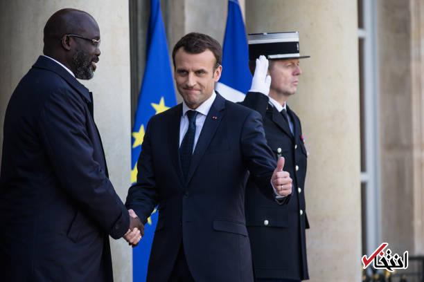 عکس/ دیدار ژورژ وآه و همسرش با رییس جمهور فرانسه