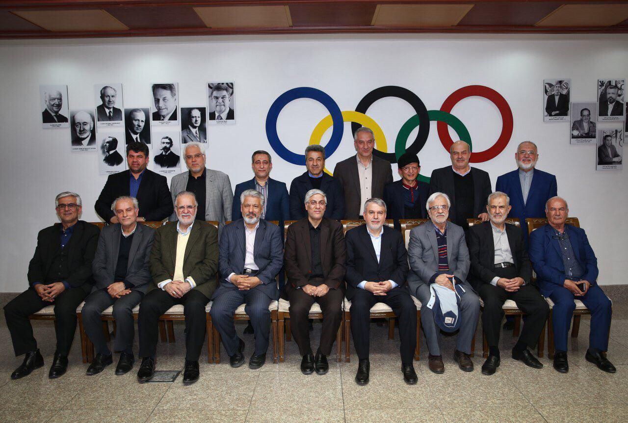 دورهمی همه مدیران و پیشکسوتان کمیته ملی المپیک پس از انقلاب اقدام نادر رییس کمیته ملی المپیک