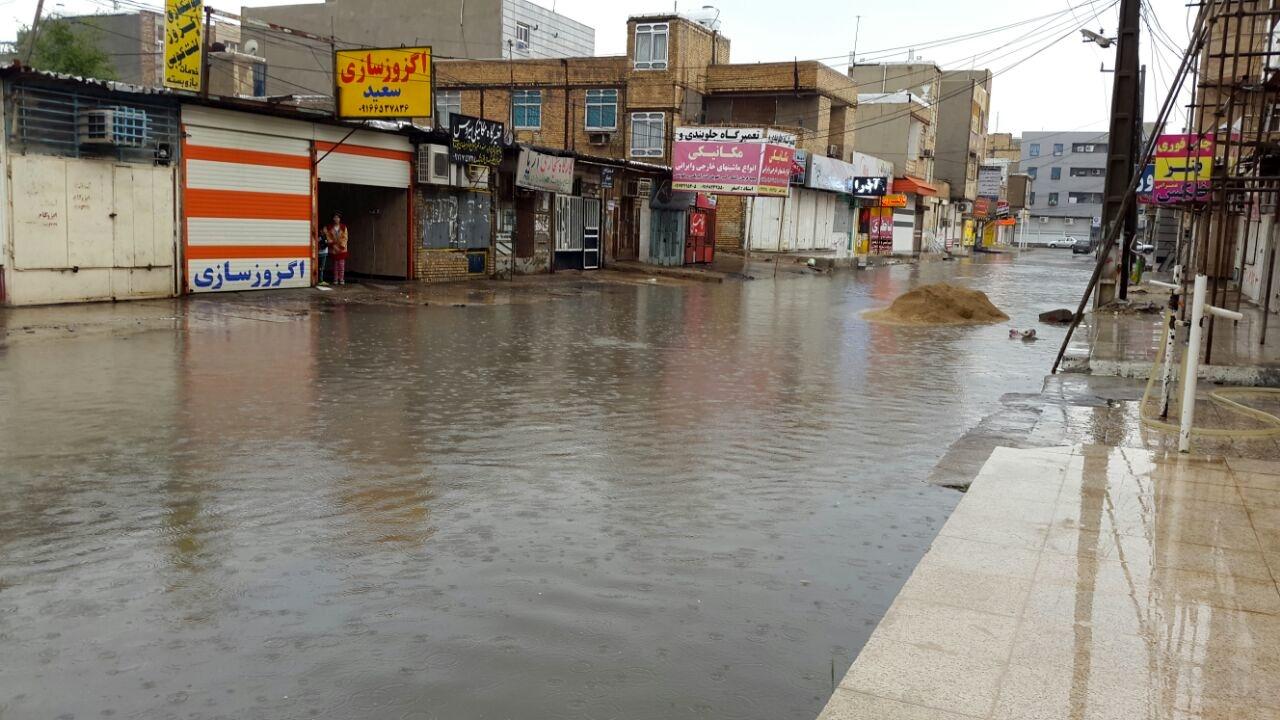 آبگرفتگی و قطع برق برخی شهرهای جنوب خوزستان