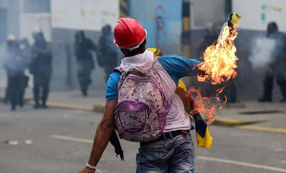تصاویر : تظاهرات ضد دولتی در ونزوئلا