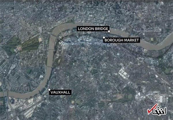 وقوع 3 حادثه هماهنگ در لندن / زیر گرفتن مردم با خودرو، حمله با چاقو و تیراندازی / نخست وزیر انگلیس: این حوادث به طور بالقوه به عنوان حمله تروریستی دیده می شوند / شاهد عینی: سه مرد با چاقو از ون بیرون آمدند فریاد زدند: «این برای خداست!»