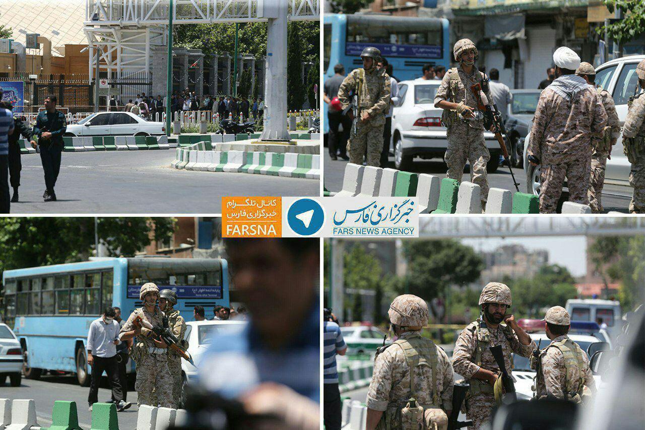 ع / حضور تک تیراندازهای در خیابانهای اطراف مجلس