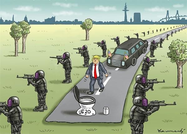 کاریکاتور /  جدیدترین خرابکاری ترامپ!