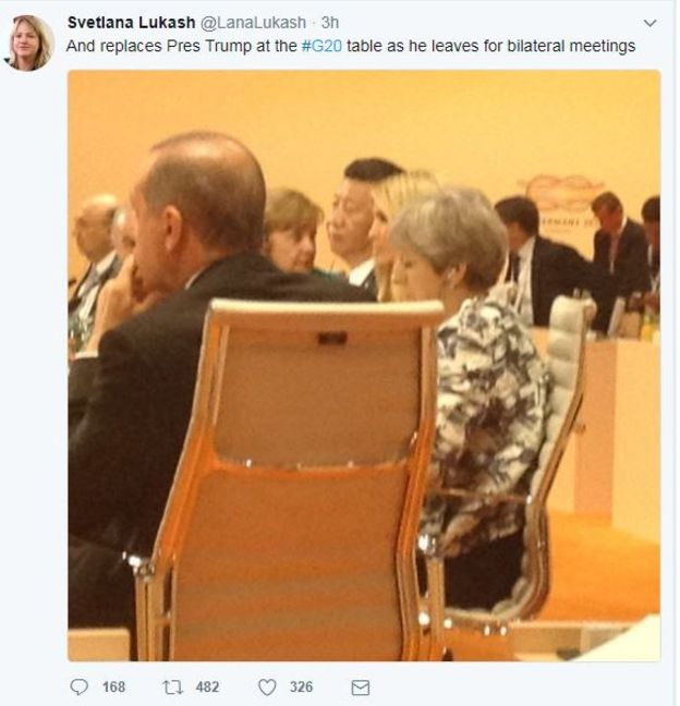 سنت شکنی ترامپ و دخترش؛ نشستن ایوانکا ترامپ در جمع رهبران جهان در نشست گروه ۲۰ جنجالی شد