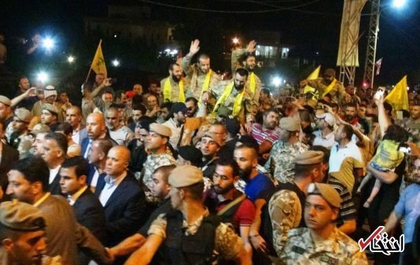 تصاویر: استقبال باشکوه از ۵ آزاد شده حزبالله