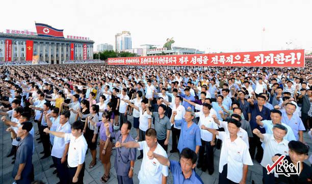 تصاویر : تجمع گسترده حمایت از حمله به گوام در کره شمالی