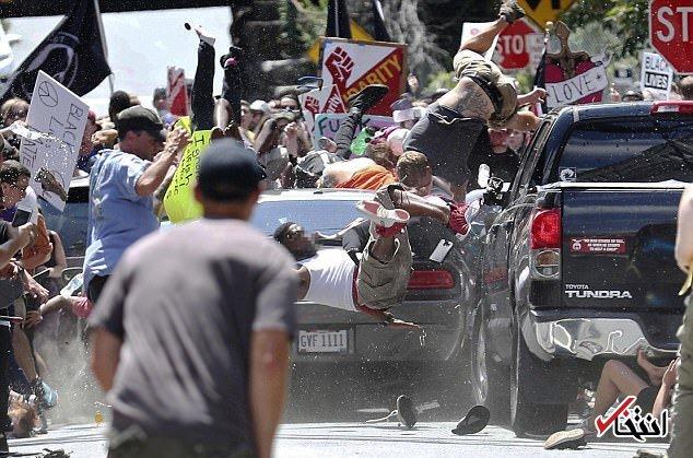 زیر گرفتن تظاهرکنندگان نژاد پرست آمریکا