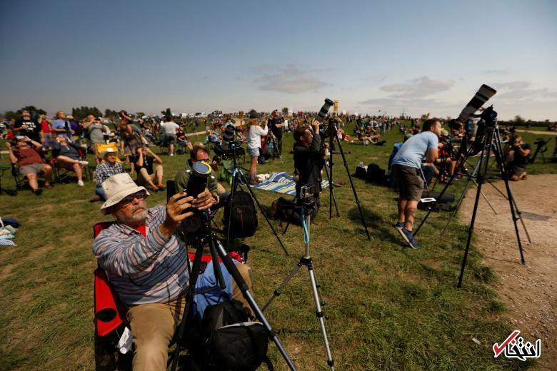 تصاویر : خورشیدگرفتگی در آمریکا