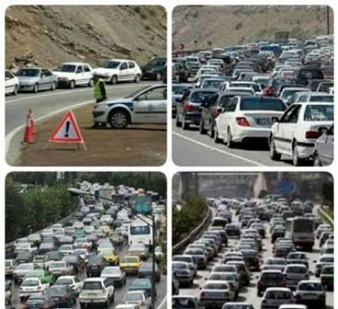 تردد پرحجم خودروها در جاده چالوس و آزادراه تهران-کرج-قزوین