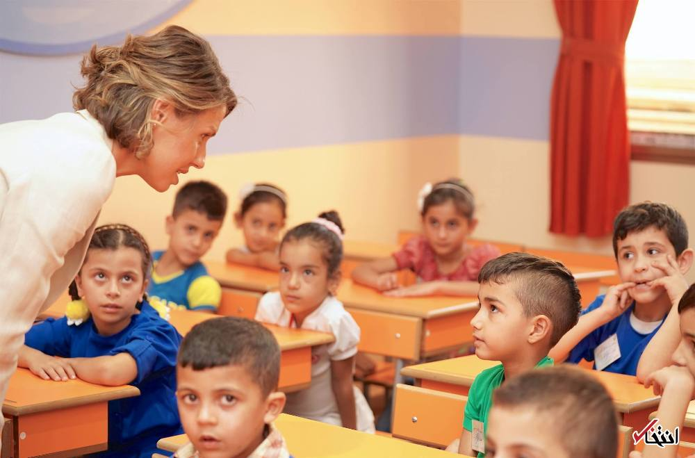 تصاویر : بانوی اول سوریه در مدرسه فرزندا شهدا