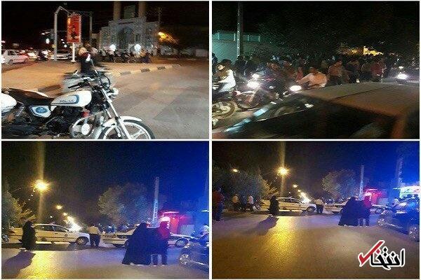 کار در منزل حومه نجف آباد تصاویری از خودروی بمبگذاری شده در نجفآباد