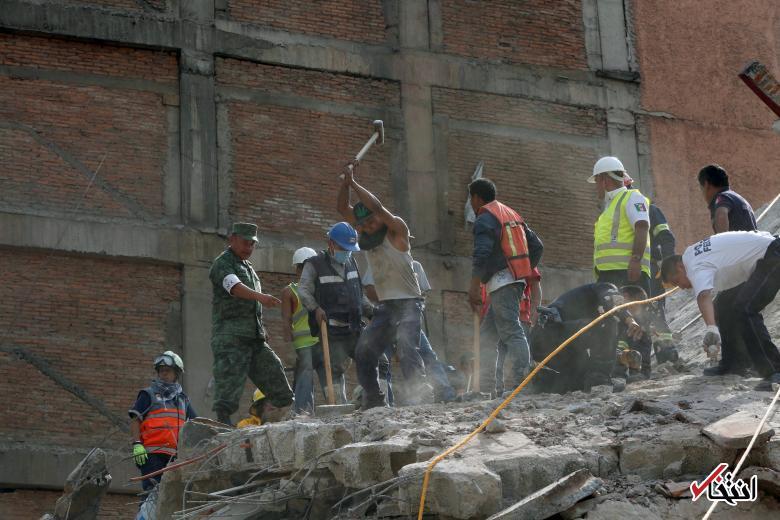 تصاویر : زلزله مرگبار در مکزیک با صدها کشته و زخمی