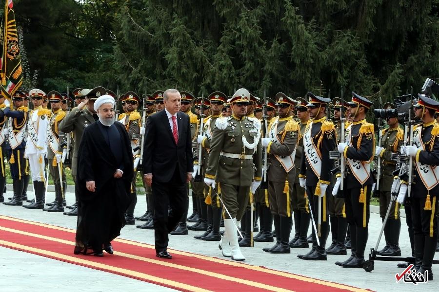 تصاویر : استقبال رسمی دکتر روحانی از اردوغان در سعدآباد