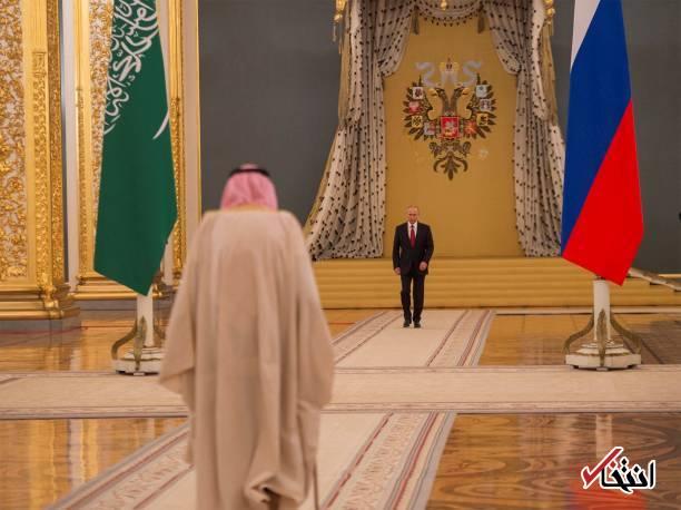 عکس/ دیدار پادشاه عربستان با پوتین در کرملین