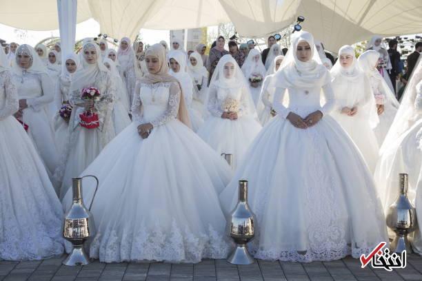 تصاویر : ازدواج دسته جمعی در پایتخت چچن