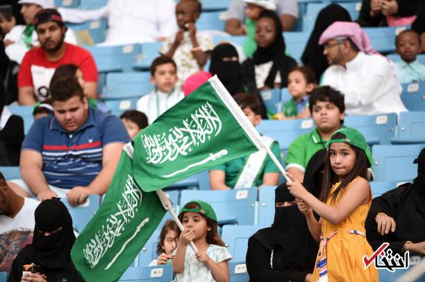تصاویر : ورود زنان عربستانی به ورزشگاه