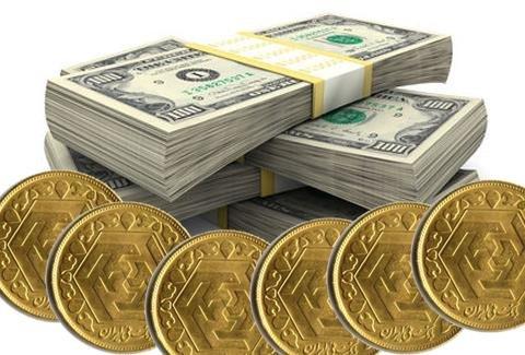 نتیجه تصویری برای دلار صعودی و سکه نزولی شد