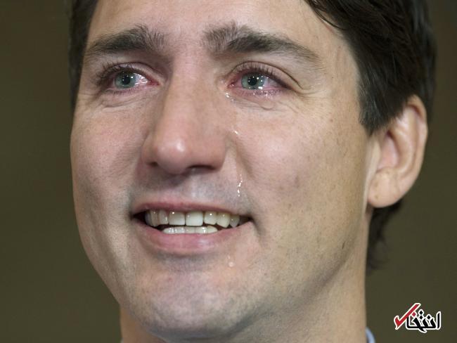 عکس/ گریه نخست وزیر کانادا در یک کنفرانس مطبوعاتی