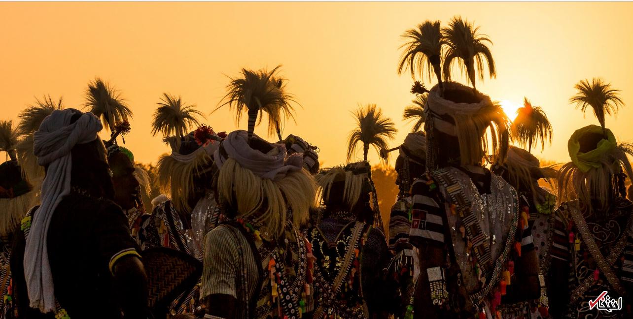 تصاویر : رسم عجیب مردان قبیله ای در چاد