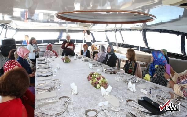 عکس/ همسران مقامات اجلاس دی-۸ در ضیافت ناهار همسر اردوغان