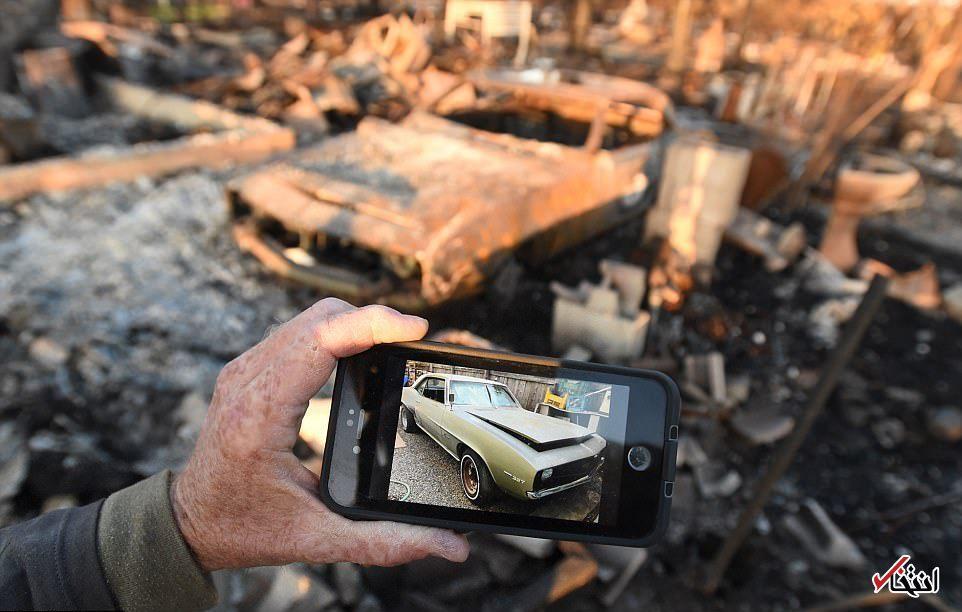 عکس/ خودروهای  در فاجعه بارترین آتش سوزی کالیفرنیا
