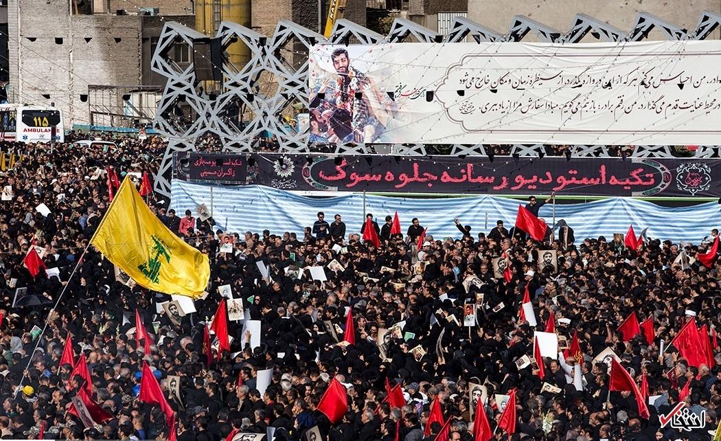 تصاویر : مراسم تشییع پیکر شهید محسن حججی در میدان امام حسین(ع)