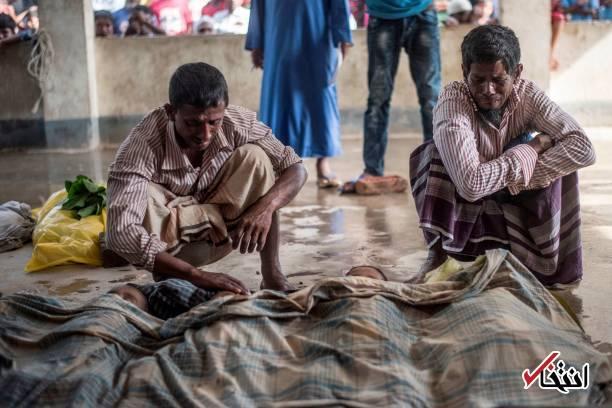 تصاویر : وداع سوزناک با کودکان روهینگیایی غرق شده