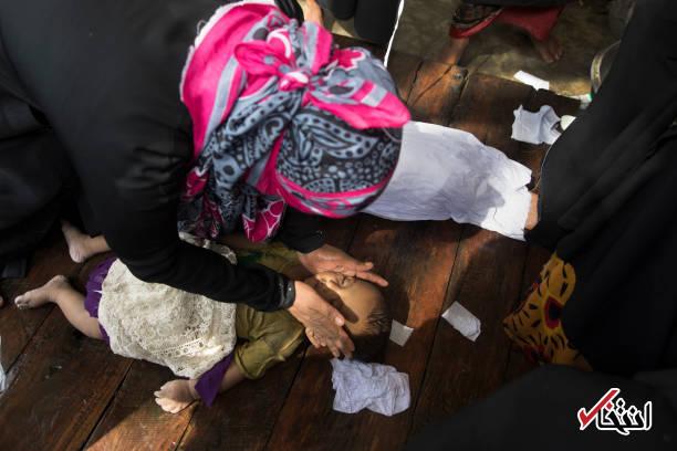 تصاویر : وداع غم انگیز با کودکان روهینگیایی غرق شده