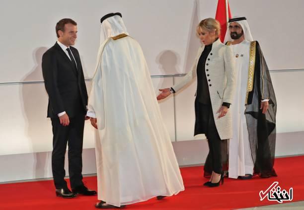 تصاویر : سفر رییس جمهور فرانسه به امارات