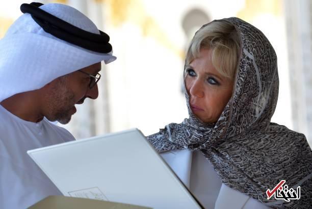 تصاویر : حجاب همسر رییس جمهور فرانسه در بازدید از سومین مسجد بزرگ جهان