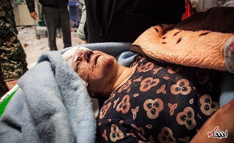 تصاویر دلخراش : مصدومان زلزله مرگبار غرب کشور