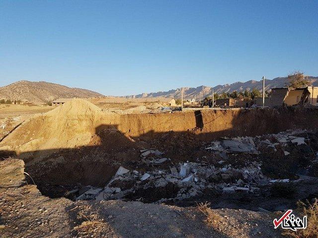 رانش زمین در «چوار» ایلام 5 ساختمان را بلعید +تصاویر