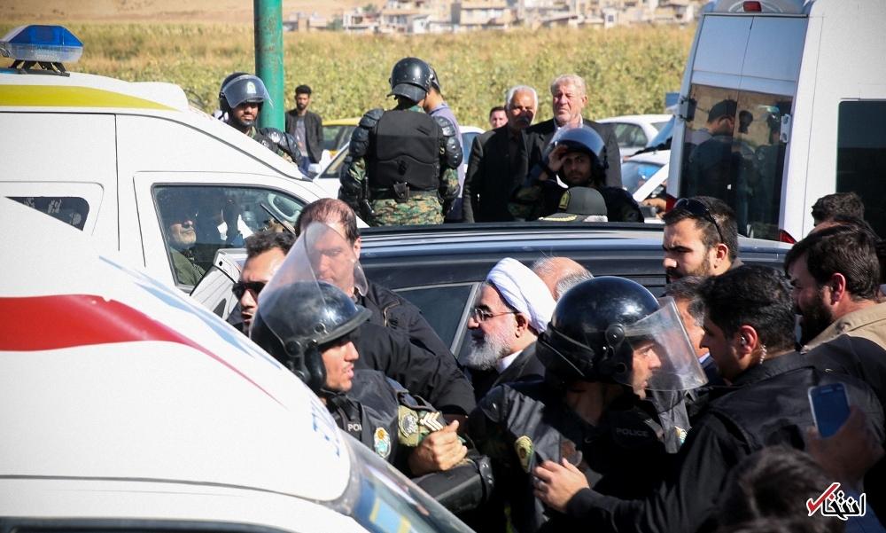 تصاویر : حضور رییس جمهور روحانی در میان مردم زلزله زده سرپل ذهاب
