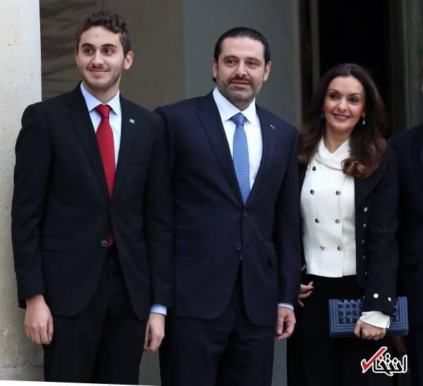 نتیجه تصویری برای عکس/ سعد حریری با همسر و پسرش در پاریس