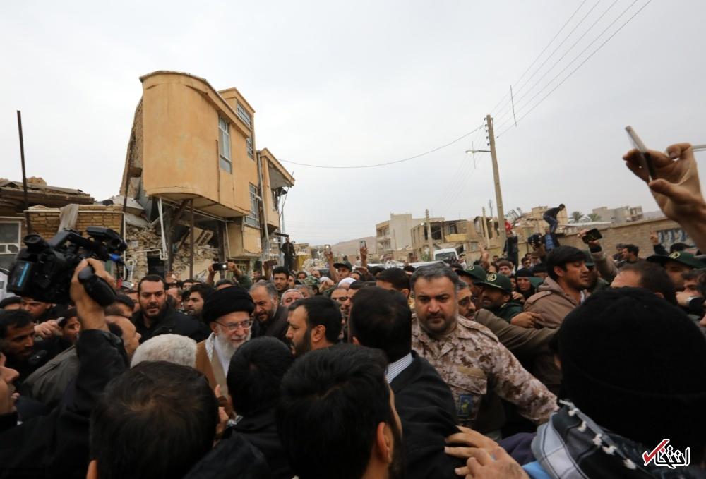 تصاویر : بازدید سرزده رهبر انقلاب از مناطق زلزلهزده استان کرمانشاه
