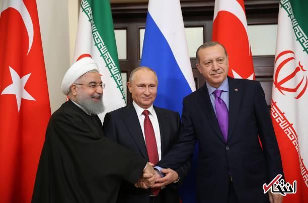 عکس/ روحانی، پوتین و اردوغان دست در دست هم