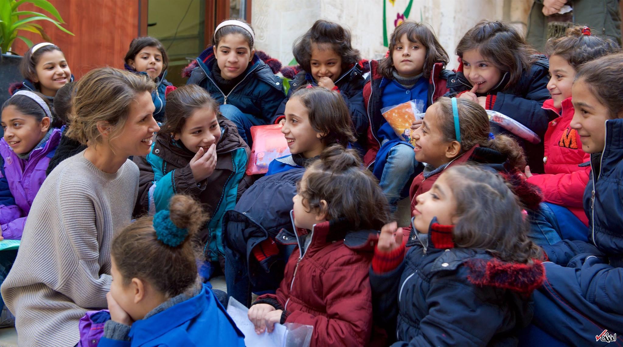 اخبار سینمای ایران     همسر بشار اسد به دیدن ایتام رفت عکس